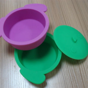 Purple Color Silicone Food Container pictures & photos
