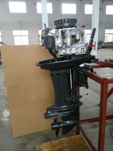 Double Cylinders 4 Stroke 25HP Water Cooled Direct Injection pictures & photos