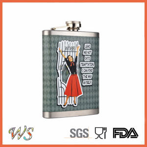DSC_0048 New Design Hip Flask with Painting Hip Flask Wine Pot pictures & photos