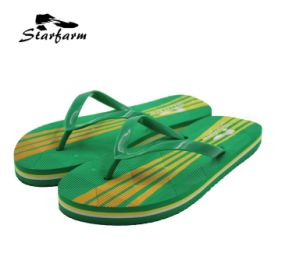 Green PVC Summer Slippers for Promoion
