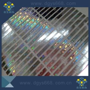 Custom Security Holographic Hologram Label with Serial Numbers Printing on Label pictures & photos