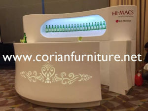 Corian Ice White Seamless Built Custom Display Shop Furniture pictures & photos