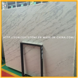Chinese Carrara White/ Guangxi Rainbow White Stone/ Marble Slabs pictures & photos