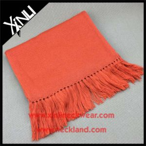 Classic Solid Color Wool Knit Fashion Warm Scarf with Tassel pictures & photos