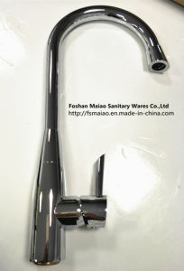 Brass Sanitary Wares Brush Satin Finish/Chrome Kitchen Faucet (FD05) pictures & photos
