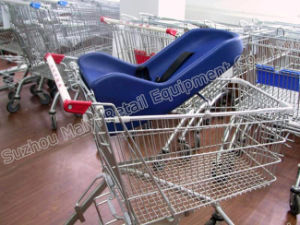 Supermarket Retail Store Convenient Baby Seat Shopping Trolley pictures & photos