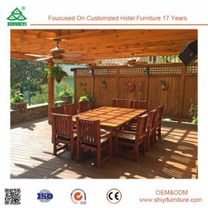 Swimming Pool Wood Outdoor Dining Table and Chair pictures & photos