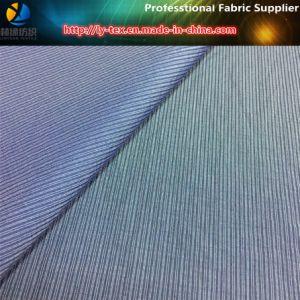 Nylon/Poly Mixed Mocrofiber Stripe Fabric for Single Jacket in Korea pictures & photos