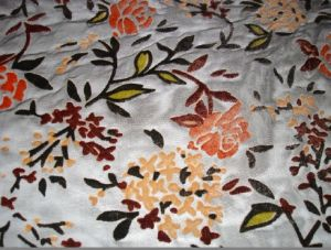 Colorful Velvet Burn out Fabric pictures & photos