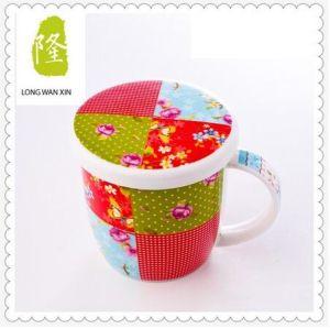 Personalised Ceramic V Shape Mugs Custom Logo Ceramic Mugs pictures & photos