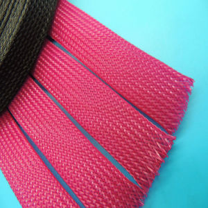 UL 150 Degree Celsius PPS Braided Expandable Sleeving for Wire Harness Protection pictures & photos