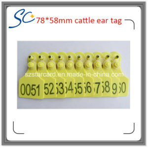 85X73mm Cattle Cow Plastic Animal Ear Tag pictures & photos