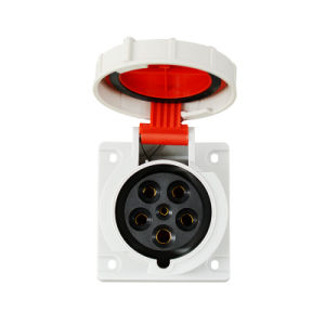 Industrial Straight Flange Socket, IEC Standard, Flush Mounted pictures & photos