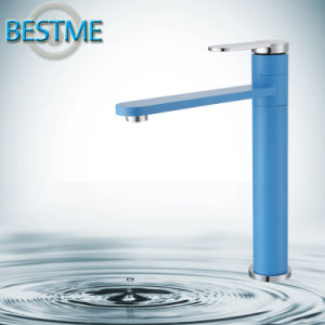 Light-Blue Basin Faucet with Brass Body (BF-A10032M) pictures & photos