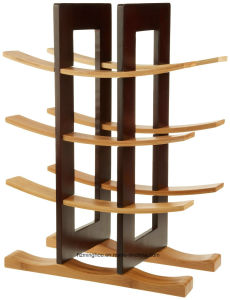 Solid Material Holder 12-Bottle Dark Espresso Bamboo Wine Rack pictures & photos