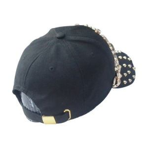 Black 6 Panel Cotton Twill Fashion Baseball Cap pictures & photos