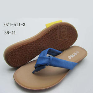 Plastic Girl Beautiful Dress PVC Sandal OEM Slipper/Flip-Flop pictures & photos