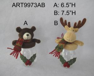 Bear and Moose Christmas Decoration Gift Treat Container pictures & photos