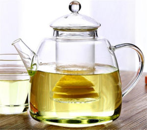 Heat-Resisting Glass Tea Pot Hand Blown