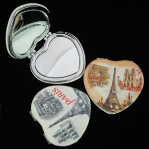 Commerce Gift- Makeup Cosmetic Portable Pocket Heart Advertising Mirror pictures & photos