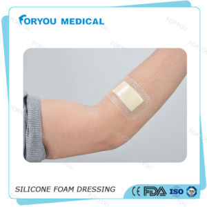 Wound Dressing Silver Particles Diabetic Wound Care Antibacterial Foam Dressing Fd1001A pictures & photos
