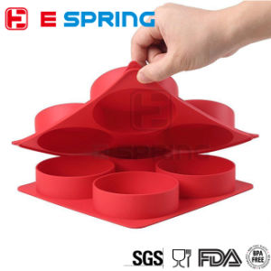 4 Cavity BPA Free Silicone Burger Maker Meat Freezer Tray pictures & photos