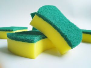 High Quality Scouring Pad Cleaning Sponge pictures & photos