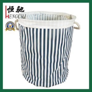 Cotton Fabric Collapsible Laundry Basket Dirty Clothes Hamper pictures & photos