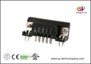 9 Pin D-SUB dB9 Male Right Angle PCB Connector pictures & photos