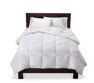 Luxury 3 Cm Stripe 300 Tc White Goose Down Comforter