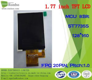"1.77"" 128*160 MCU 8bit 20pin high Brightness Customizable TFT LCD pictures & photos"