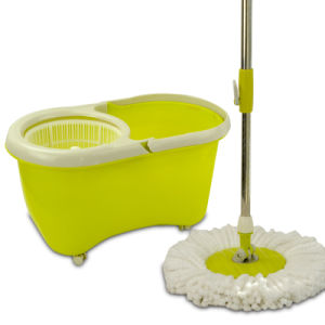 Top Quality Deluxe Plastic Basket Spin Go Shop Magic Mop pictures & photos