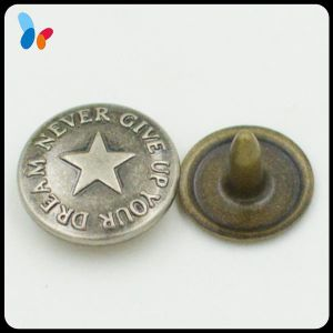 Custom Embossed Star Logo Metal Brass Rivets for Jeans and Bags pictures & photos