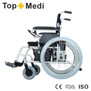Rehabilitation Equipment High Strength Aluminum Disabled Electronic Wheelchair pictures & photos