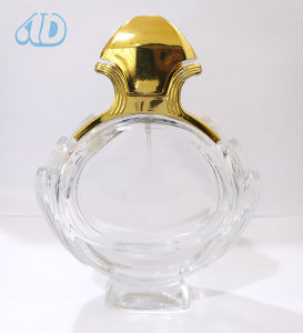 Ad-P263 Curved Spray Glass Transparent Perfume Bottle pictures & photos