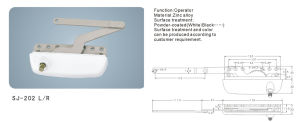 Zinc Alloy Window Operator Window Accessories (SJ-202 L/R) pictures & photos