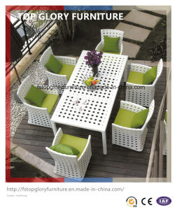 Modern Patio Rattan Dining Furniture Set (TG-1617) pictures & photos