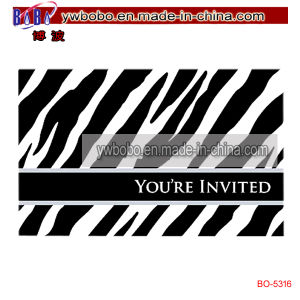 Horizontal Zebra Invitations Paper Card Party Supply (BO-5316) pictures & photos