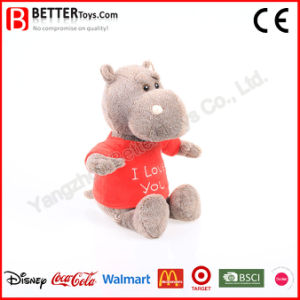 ASTM Lifelike Soft Toys Stuffed Animal Plush Hippo in T-Shirt pictures & photos