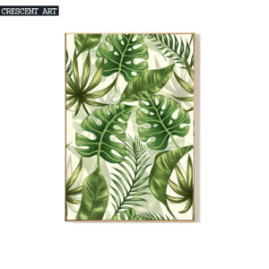 Palm Leaves Decorative Art Print on Canvas pictures & photos