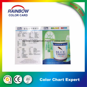 Cmyk Full Color Custom Folded Glossy Paint Card pictures & photos