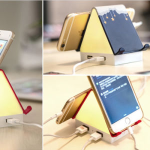 House Desk Table Lamp LED Night Light with 4 Ports USB Charger Phone Stand pictures & photos