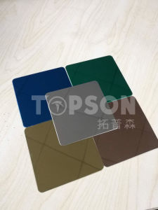 201 304 316 Color Stainless Steel Plate with 8k Hairline Satin Etched Embossed Finish pictures & photos