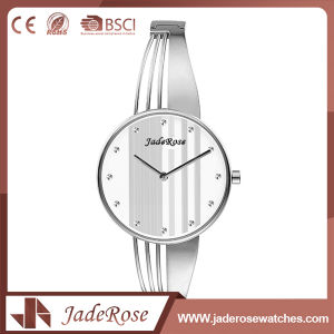 Ladies Modern Style Large Dial Stainless Steel Quartz Watch pictures & photos