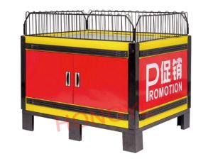 Wal-Mart Style Metal Promotion Table with Cabinet for Retailing (HY-PJT01) pictures & photos