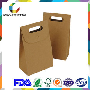 Widely Used & Lower Price Kraft Paper Box with Handle pictures & photos