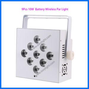 Stage LED PAR Light 9 PCS Battery Flat Ceiling Light pictures & photos