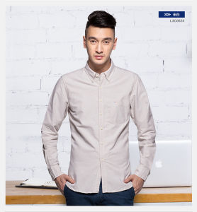 Hot Casual Cotton Long Sleeve Oxford Pure Shirt Men New pictures & photos