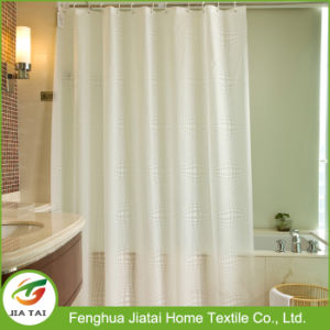 Cheap Super Quality Long White Hookless Shower Curtain
