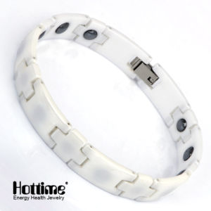 White Color Magnetic Bracelet for Health with Test Report (10055) pictures & photos